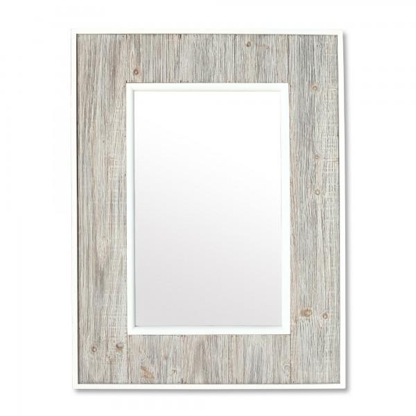 Spiegel im Rahmen 'Dornum', natur, weiß, T 3 cm, B 60 cm, H 80 cm