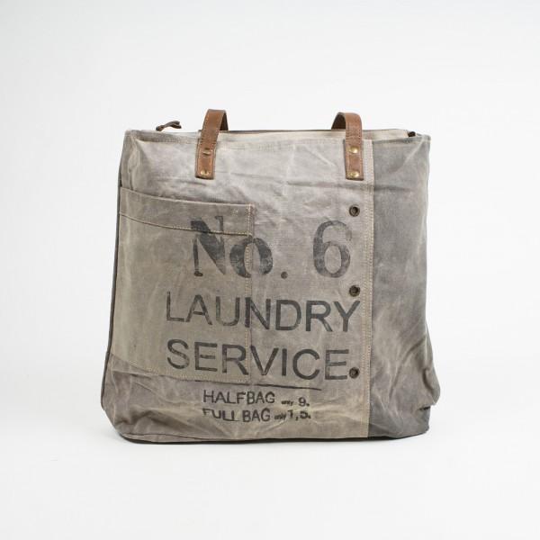 """Umhängetasche """"No. 6"""", beige, B 41 cm, H 39 cm"""