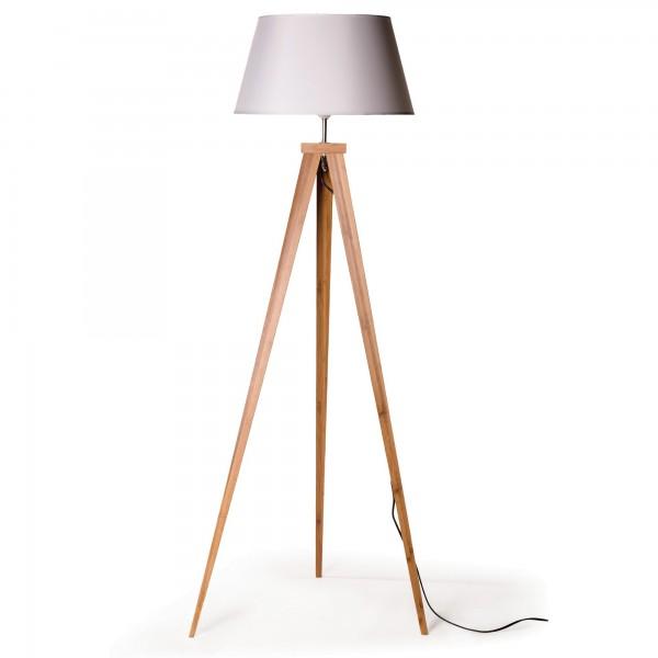 "Stehlampe ""Bamboo"", braun/weiß, L 60 cm, B 50 cm, H 153 cm"