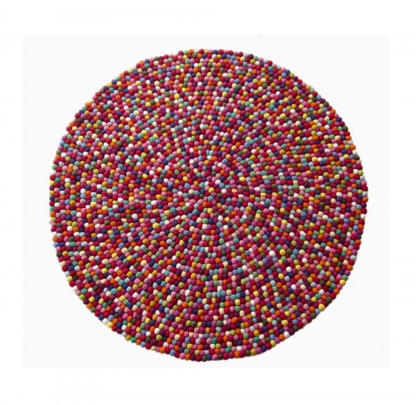 Filz-Teppich 'Multi', multicolor, Ø 120 cm