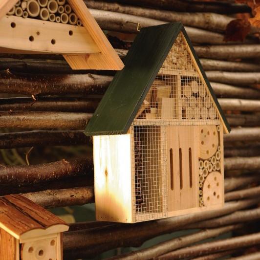 Insekten-Villa aus Fichtenholz und Bambus, B 30 cm, H 31 cm