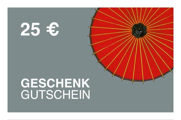 25 € Online-Geschenkgutschein