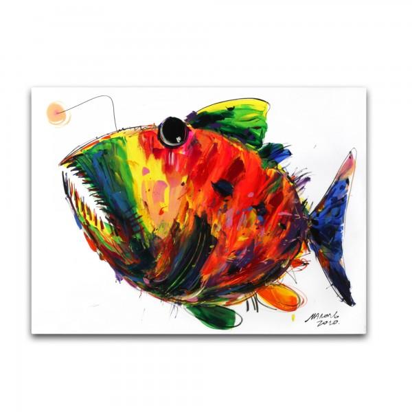 Wandbild 'Fisch', multicolor, T 2,5 cm, B 80 cm, H 60 cm