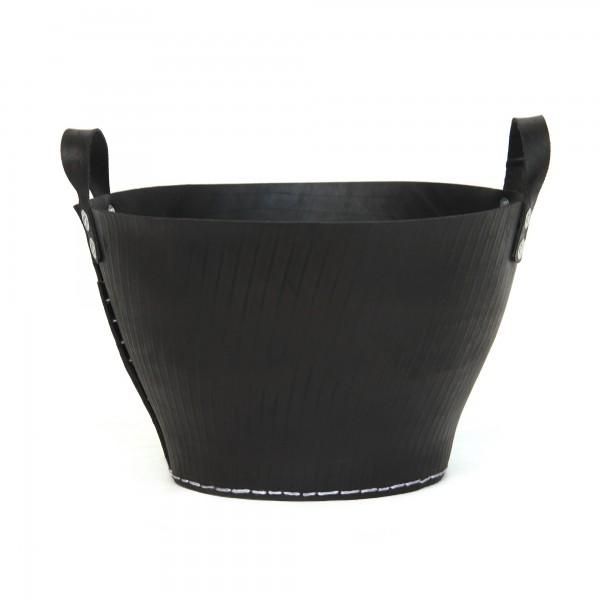 Korb mit Griff Autoreifen L, schwarz, Ø 45 cm, H 29 cm