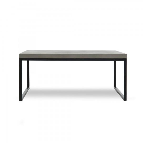 Couchtisch 'Glance', grau, schwarz, T 35 cm, B 80 cm, H 80 cm