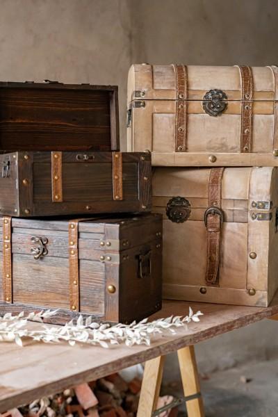 Koffertruhe 'Irima' S, braun, T 28 cm, B 15 cm, H 16 cm