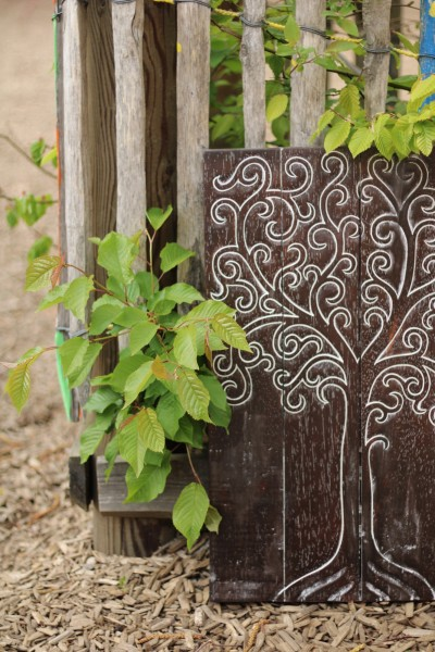 Panel 'Baum des Lebens', braun, T 3 cm, B 40 cm, H 60 cm