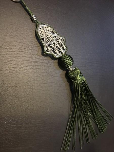 Troddel Fatima, khaki, T 25 cm, B 5 cm, H 4,5 cm