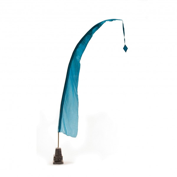 Balifahne, blau, H 100 cm