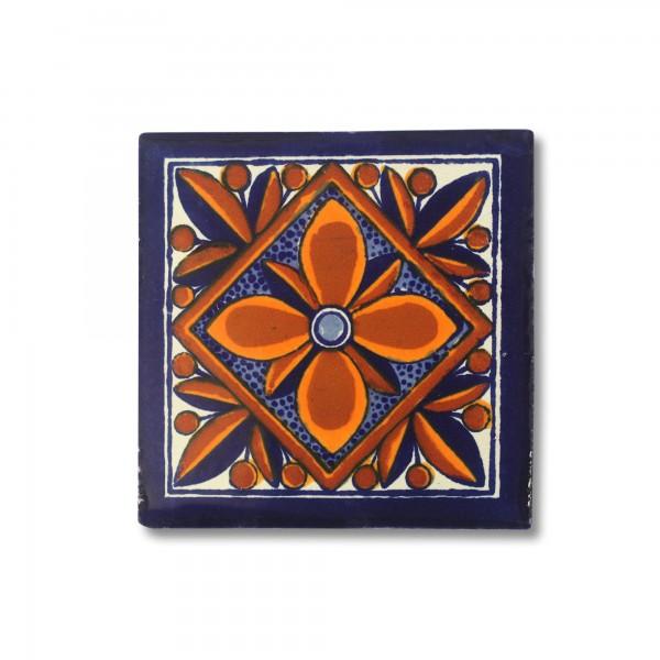 Kachel 'Puebla', multicolor, T 10 cm, B 10 cm, H 0,5 cm