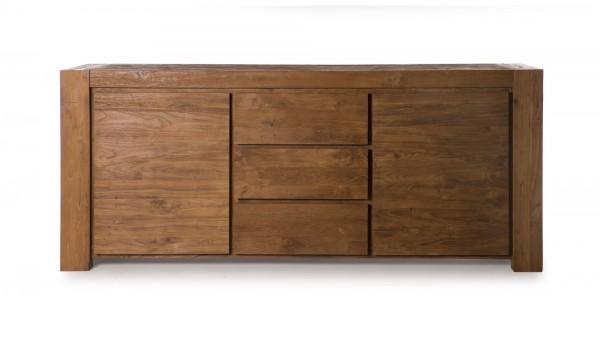 Sideboard, 2 Türen, 3 Schubladen, braun, T 50 cm, B 200 cm, H 85 cm
