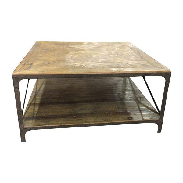 """Tisch """"Luton"""", braun, L 100 cm, B 100 cm, H 48 cm"""