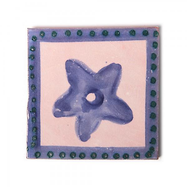 """Fliese """"myosotis bleu"""", blau, L 10 cm, B 10 cm, H 1 cm"""