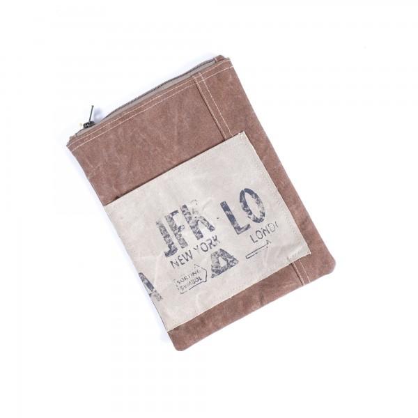"Tasche ""JFK"", braun, L 26 cm, B 21 cm"