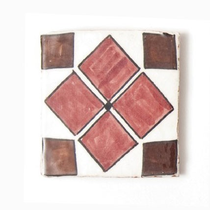 "Fliese ""quadrique"", rot/braun, L 10 cm, B 10 cm, H 1cm"