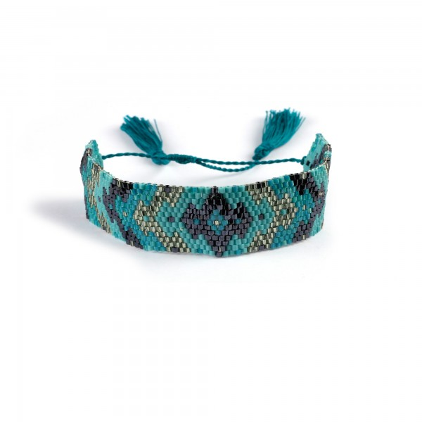Armband, türkis, T 12 cm, B 12 cm, H 5 cm