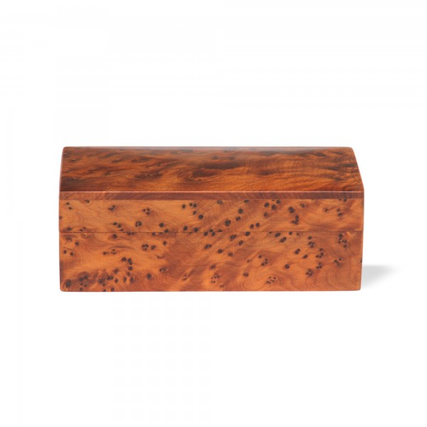 Thuja Box, braun, T 8 cm, B 12 cm, H 4,5 cm