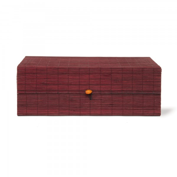 Bambus-Box XL, braun, T 24 cm, B 34 cm, H 11 cm