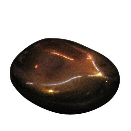 Teelichthalter aus Stein, braun, H 6 cm, Ø 7 cm