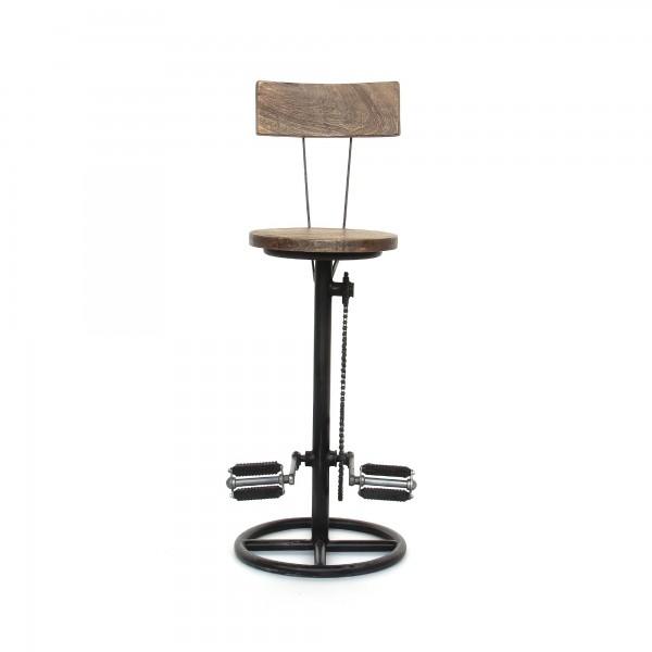 Barstuhl 'Bicycle I', natur, schwarz, Ø 38 cm, H 103 cm