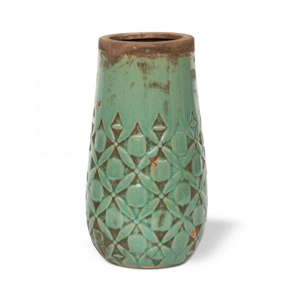 Keramikvase 'Minti', altgrün, Ø 13 cm, H 25 cm