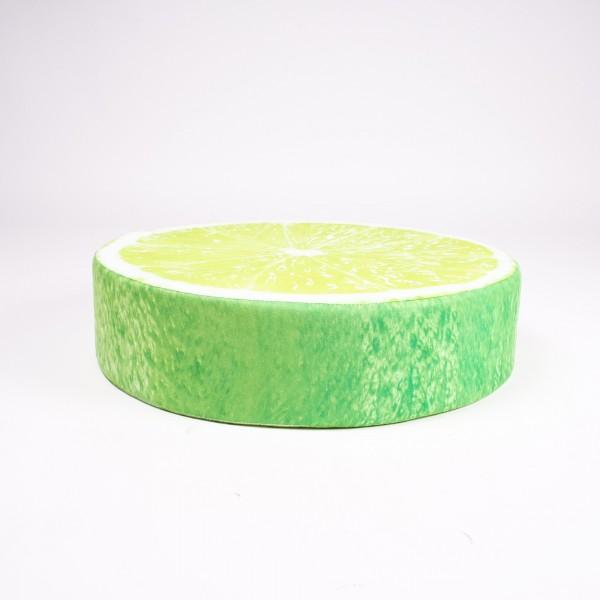 """Sitzkissen """"Limone"""", grün, Ø 50 cm, H 12,5 cm"""