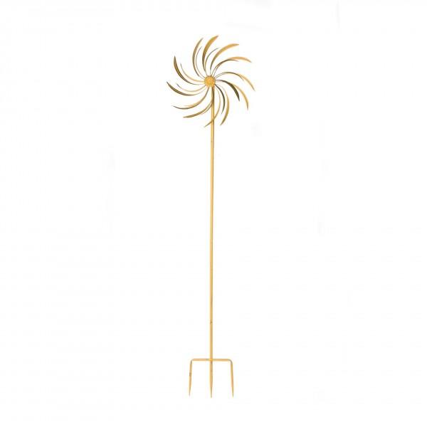 "Windrad ""Fork"", gold, Ø 38 cm, H 122 cm"