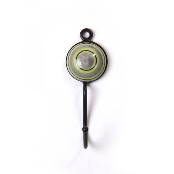 Wandhaken 1fach, grün/grau, L 4,5 cm, B 4,5 cm, H 15 cm