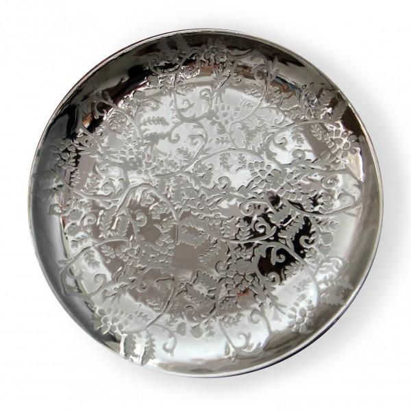 Deko-Teller, silber, H 4,5 cm, Ø 35 cm