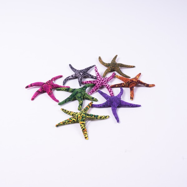 Sandtier 'Seestern', klein, multicolor, L 10 cm