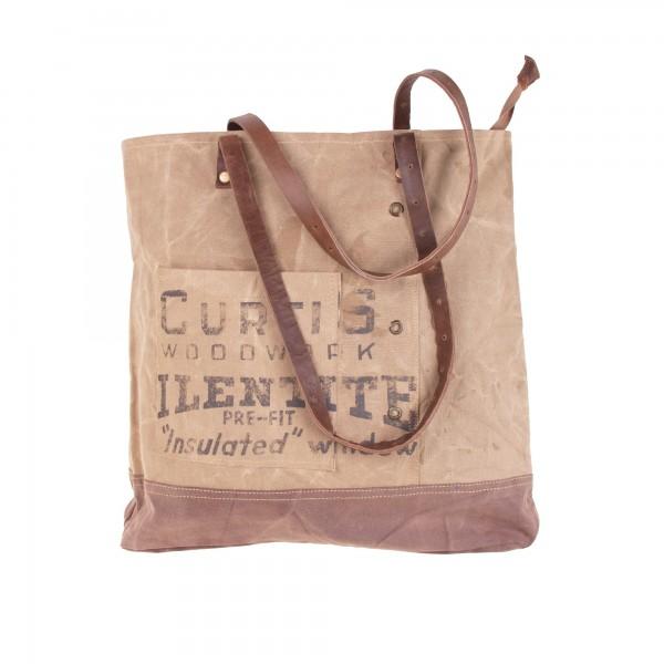 """Umhängetasche """"Curtis"""", beige/braun, B 39 cm, H 40 cm"""