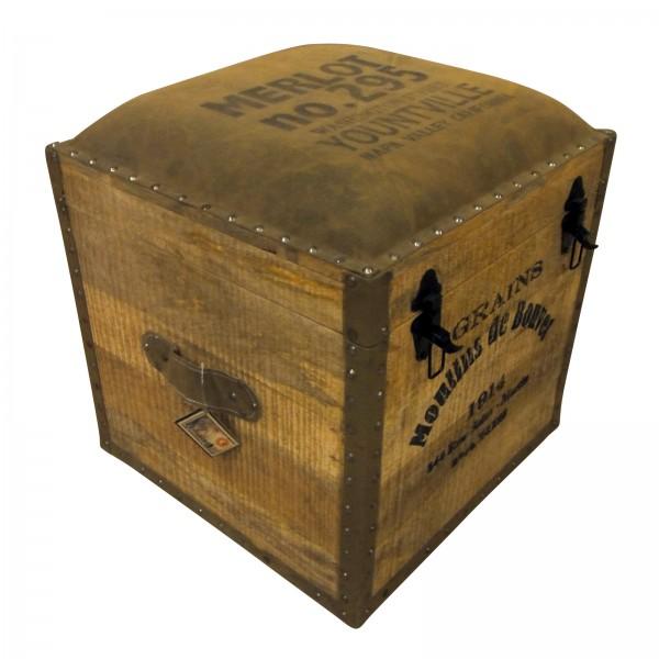 Holztruhe 'Nidhi', braun, L 46 cm, B 46 cm, H 50 cm