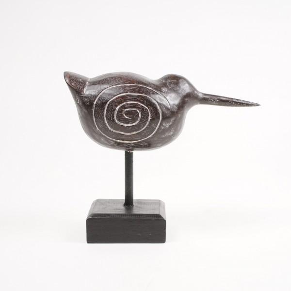"""Vogel """"Fat Bird"""", aus Albesiaholz, L 12 cm, B 30 cm, H 25 cm"""