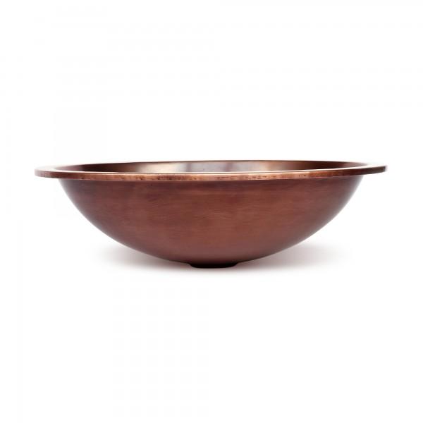 Kupferwaschbecken, kupfer, T 45,5 cm, B 37 cm, H 12,5 cm