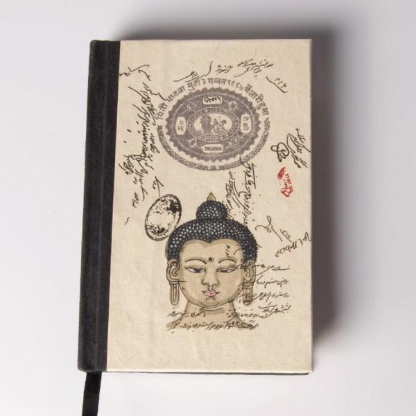 """Notizbuch """"Cuna"""", schwarz/beige, B 10 cm, H 15 cm"""