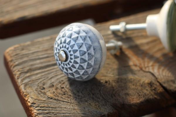 Türknauf rund, grau, Ø 4 cm
