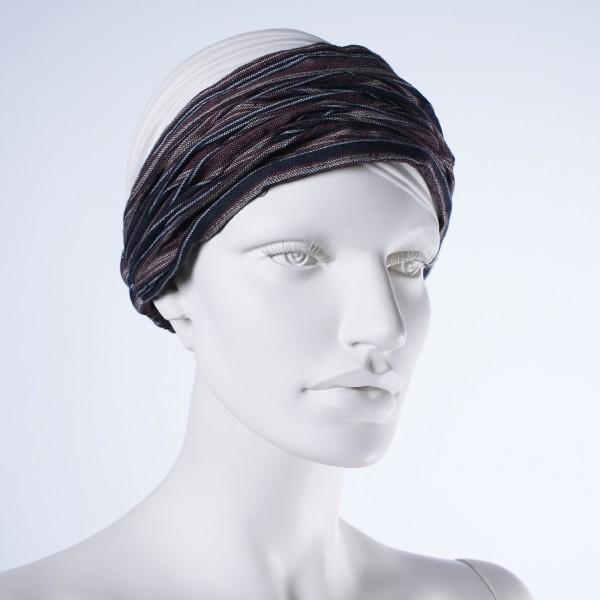 """Haarband """"Memphis"""", aus 100% Baumwolle, schwarz/braun"""