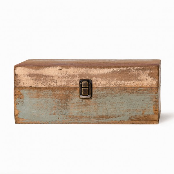 Holzbox S, im Factory Design, L 15 cm, B 28 cm, H 12 cm