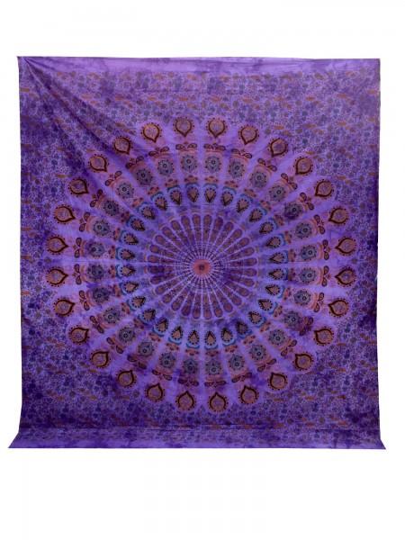 """Tagesdecke """"Flower"""", aus 100% Baumwolle, lila, L 220 cm, B 250 cm"""