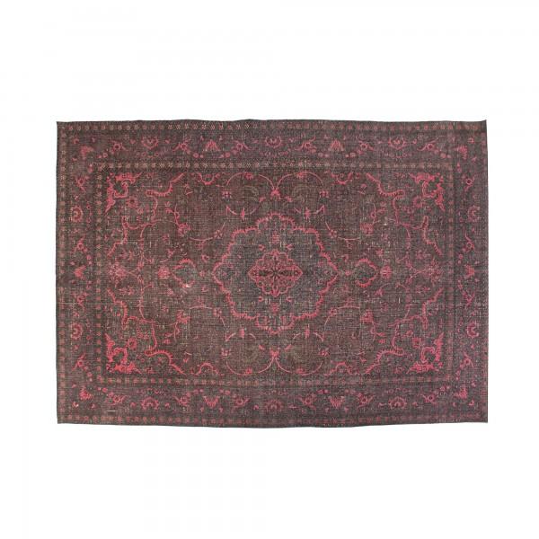 Teppich 'Teni', schwarz, rot, T 140 cm, B 200 cm