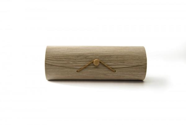 Box 'Tapiste' mit Knopfverschluss, braun, T 7 cm, B 25 cm, H 9 cm