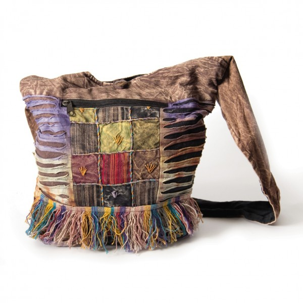 "Cross-Over-Bag ""Stitchery"", multicolor, B 35 cm, H 35 cm"