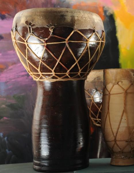 Ton-Trommel 'Agadir', braun, H 38 cm