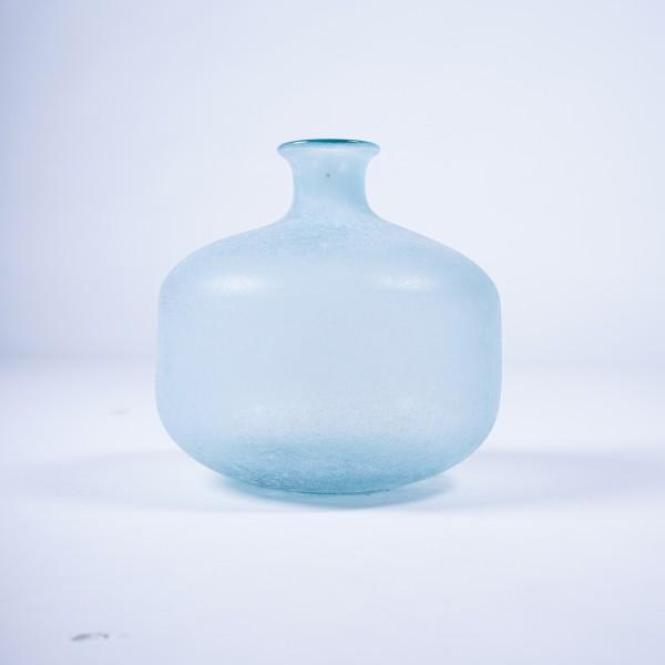 """Glasvase """"Guiliere gefrostet"""", blau, Ø 22 cm, H 21 cm"""