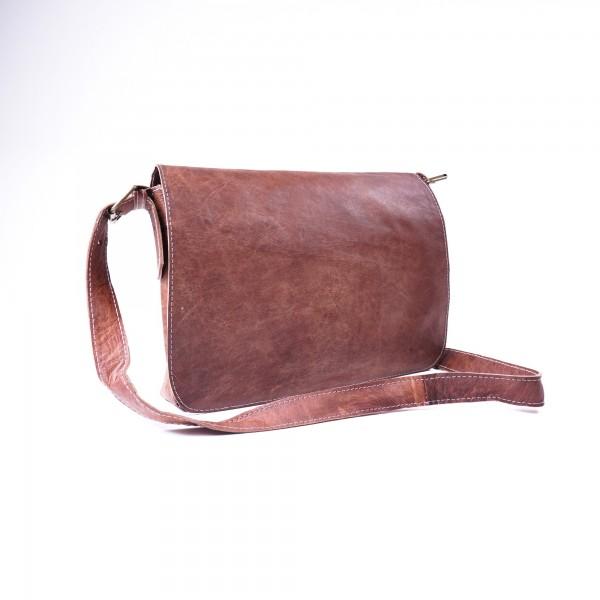 Messengertasche, braun, B 38 cm, H 29 cm