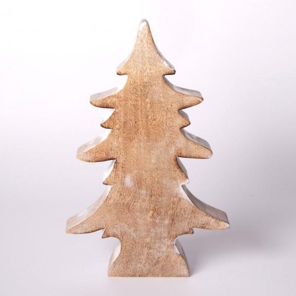 """Dekotanne """"Achern"""" aus Holz, braun, B 19 cm, H 30 cm"""