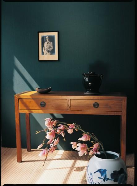 Schreibtisch, natur, H 77 cm, B 120 cm, T 40 cm