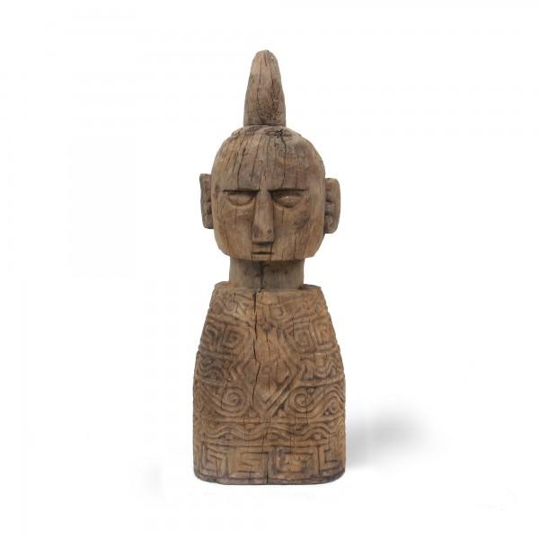 Holzfigur 'Kopf', natur, Ø 22 - 25 cm, H 70 cm