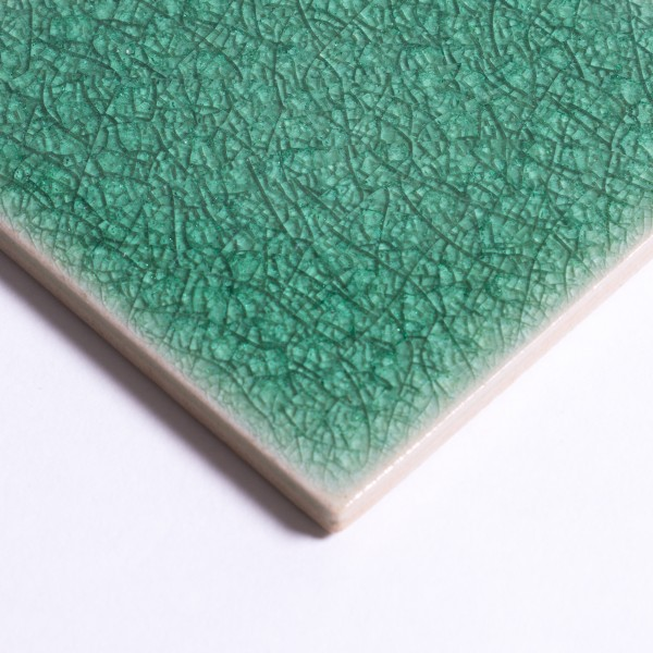 Fliese 'Craquele' hellgrün, L 5 cm, B 5 cm