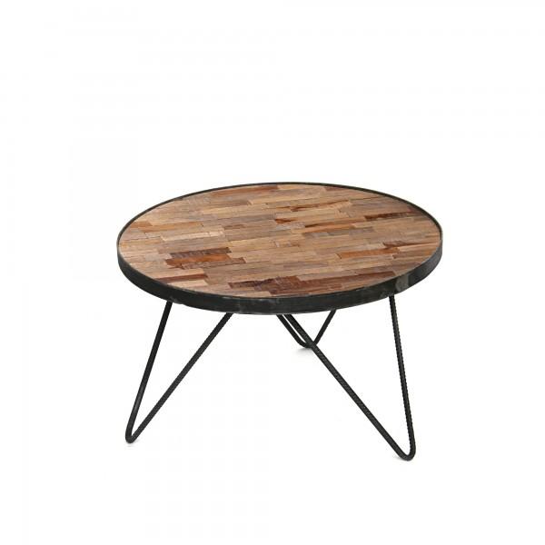 Tisch 'Joy' S, natur, schwarz, T 58 cm, B 58 cm, H 37 cm